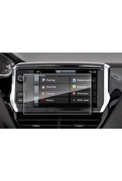 Aeltech Peugeot 208 Navigasyon Ekran Koruyucu Cam