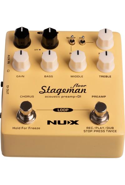 Nux Stageman Floor (Nap-5) Akustik Gitar Preamp & Dı Pedal