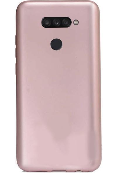 Coverzone LG K50S 2019 Kılıf Silikon Kılıf Rose