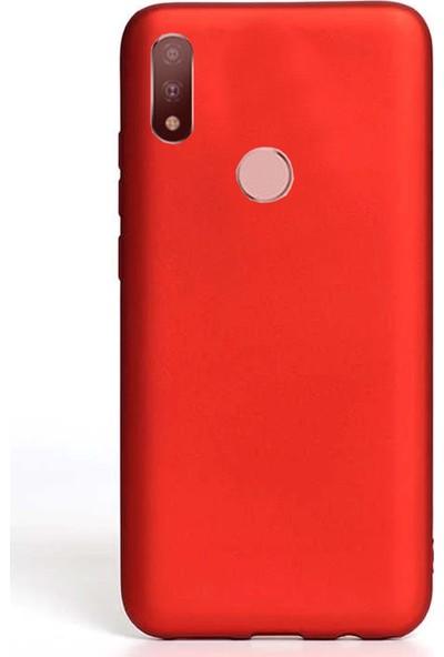 Coverzone Motorola One Macro Kılıf Silikon Kılıf Kırmızı