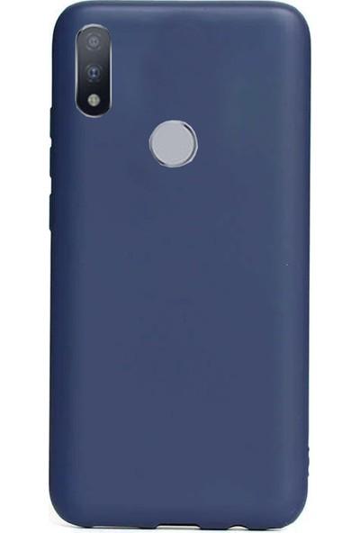 Coverzone Motorola One Macro Kılıf Silikon Kılıf Lacivert