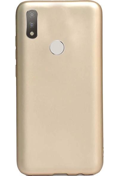 Coverzone Motorola One Macro Kılıf Silikon Kılıf Gold