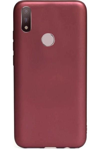 Coverzone Motorola E6 Plus Kılıf Silikon Kılıf Bordo