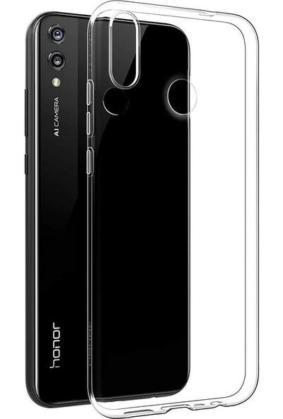 Happyshop Honor 20 Lite Kılıf Ultra İnce Şeffaf Silikon+Cam Ekran Koruyucu
