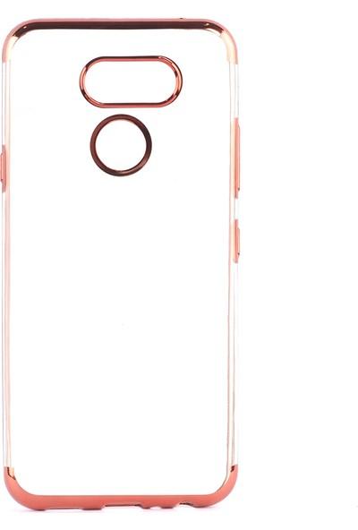 Happyshop LG K40S Kılıf 4 Köşe Renkli Şeffaf Laser Silikon+Nano Cam Ekran Koruyucu