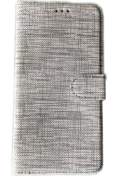 Happyshop Huawei Y7 2019 Kılıf Kumaş Desenli Cüzdanlı Kapaklı Kartlıklı Kılıf+Nano Cam Ekran Koruyucu
