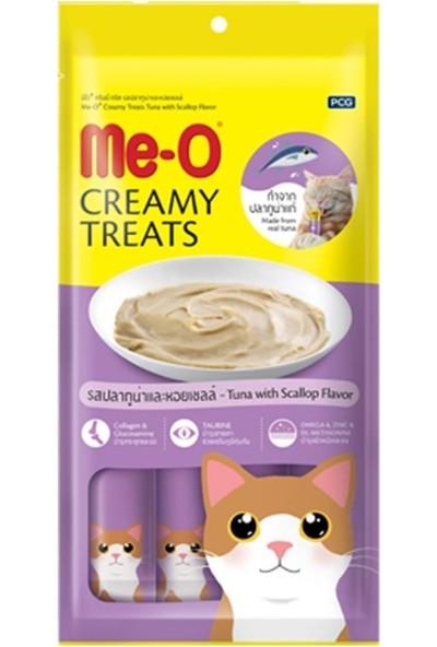 Me-O Creamy Treats Deniz Tarağı ve Ton Balıklı Kedi Ödülü 15 gr x 4