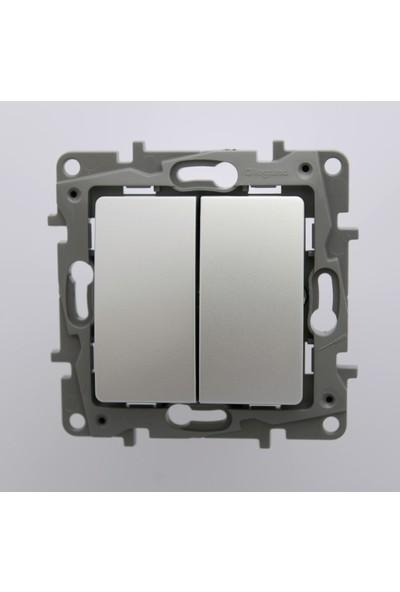 Legrand Salbei Serisi Alüminyum Komütatör 10A Çerçevesiz