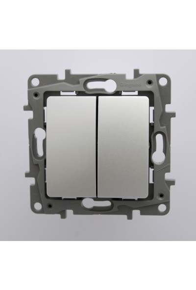 Legrand Salbei Serisi Alüminyum Komütatör Vavien 10A Çerçevesiz