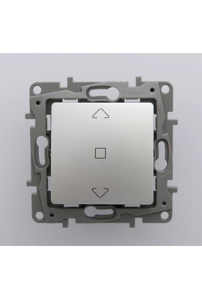 Legrand Salbei Serisi Alüminyum Panjur / Stor Anahtarı 10A Çerçevesiz