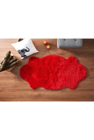 Markaev Tavşan Tüyü Kırmızı Post Halı