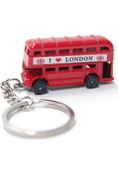 Dünyadan Hediyeler Metal Anahtarlık Londra Otobüs