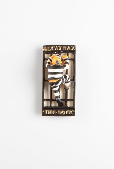 Dünyadan Hediyeler Alcatraz 3D Magnet El Yapımı