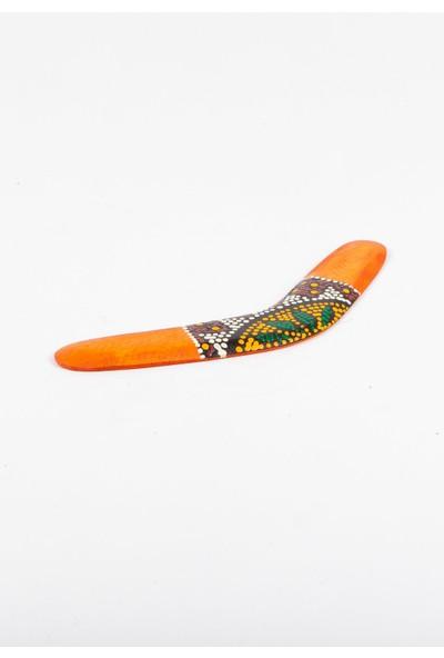 Dünyadan Hediyeler Ahşap Bumerang Batikli 30 cm
