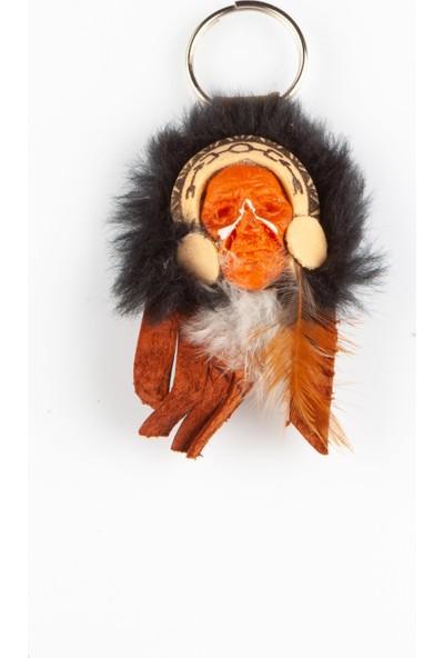 Dünyadan Hediyeler Kızılderili Maske Büyük Şef Anahtarlık No.1