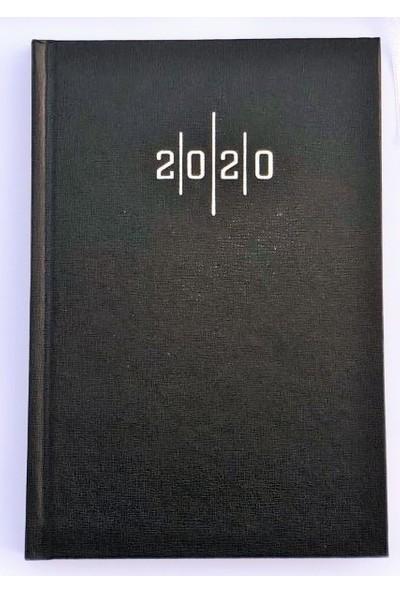 Liz Cilt Bezi Çizgili 2020 Ajanda 14x20 Eko - Siyah - 3 Adet