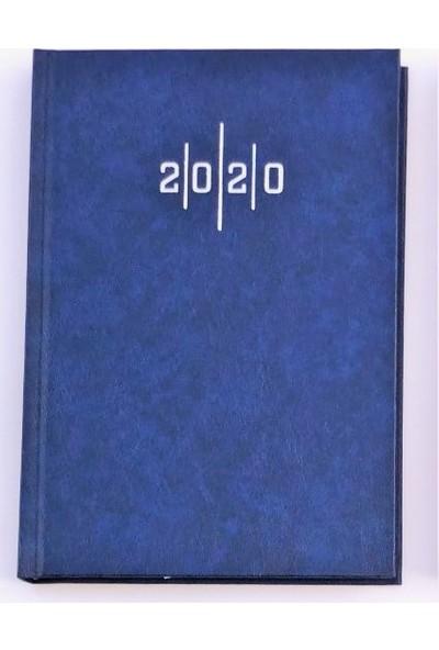 Liz Cilt Bezi Çizgili 2020 Ajanda 14x20 Eko - Lacivert - 3 Adet