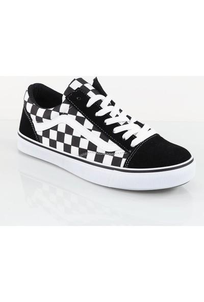 Bpm Old Skool Damalı Sneaker Stil Ayakkabı