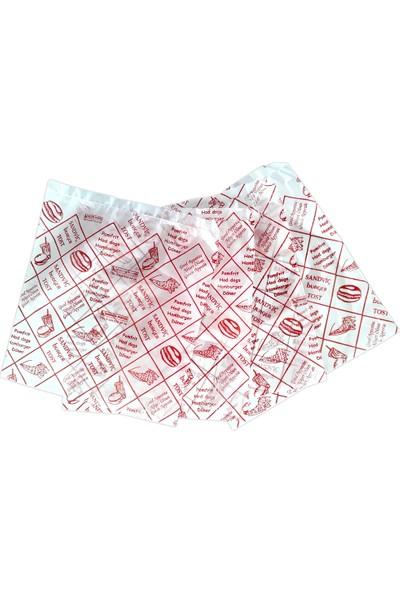 Hoşgör Plastik Hamburger Poşeti Kılıfı Tost Poşeti 14x14 cm (Koli:12000 )