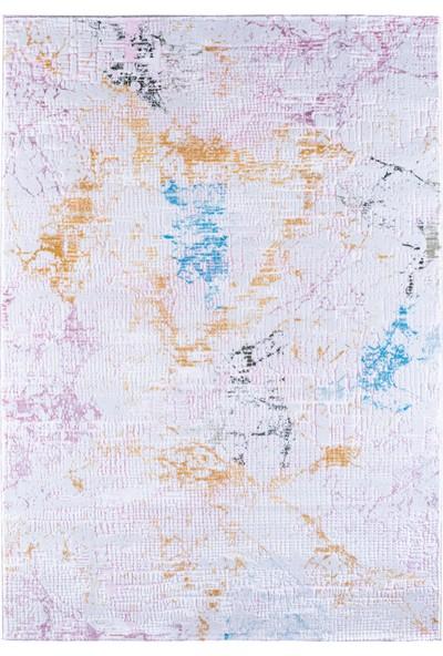Atlantik Halı 9727C Rainbow Pembe Beyaz 80 x 150