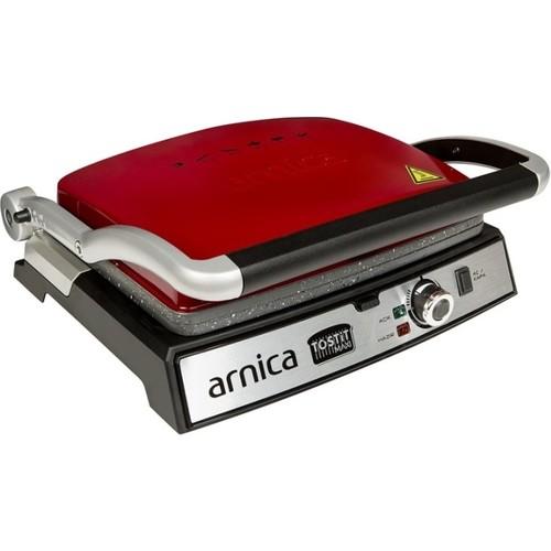 Arnica GH26243 Tostit Maxi Granit Izgaralı Tost Makinesi Kırmızı