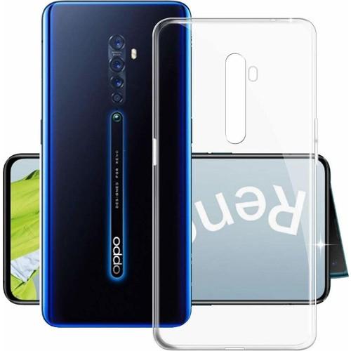 Case 4U Oppo Reno 2Z Kılıf Süper Silikon Arka Kapak Şeffaf