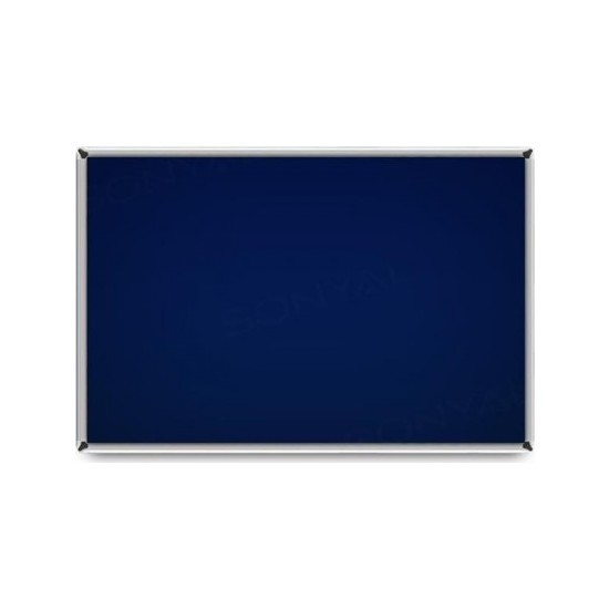 Ahşapevim Metal Çerçeveli Kumaş Kaplı Mantar Pano Mavi