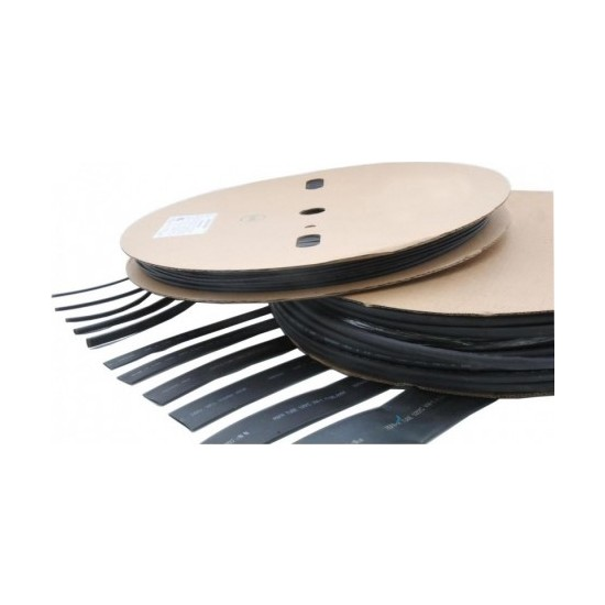 Pannect Isı ile Daralan Makaron Siyah 18 mm (100 m)