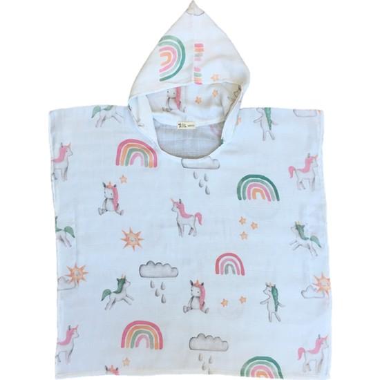 Asu Baby&Kids Unicorn Organik Bambu Müslin Panço