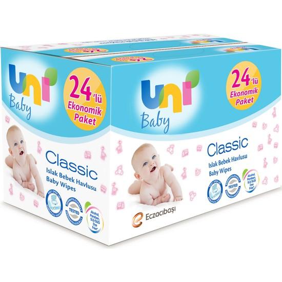 Uni Baby Classic Islak Havlu 24'lü Fırsat Paketi / 56x24 (1344 Yaprak)
