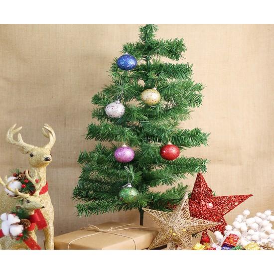 Kullan At Market Yılbaşı Ağacı Simli Toplar Renkli Ağaç Süsü 4cm 6lı