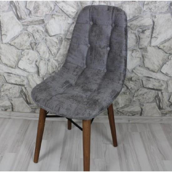 Laçes House Papelli Ahşap Ayak Birinci Sınıf Kumaş Sandalyesi Ev-5