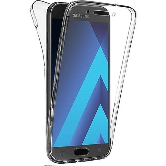 Magazabu Samsung Galaxy A5 2017 Kılıf Şeffaf 360 Derece Tam Kaplayan Silikon