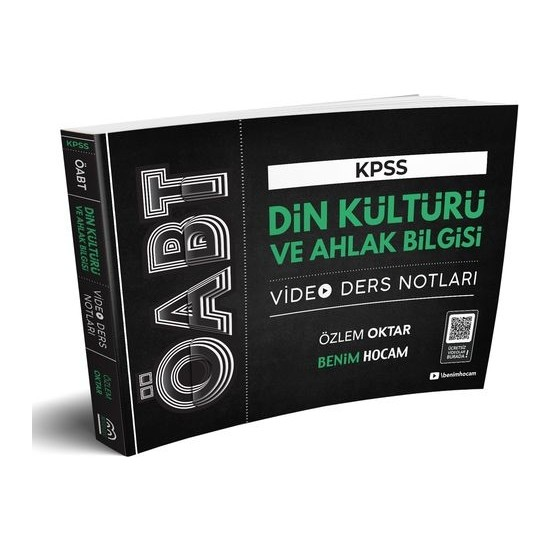 Benim Hocam Yayınları 2020 ÖABT Din Kültürü ve Ahlak Bilgisi Öğretmenliği Video Ders Notları