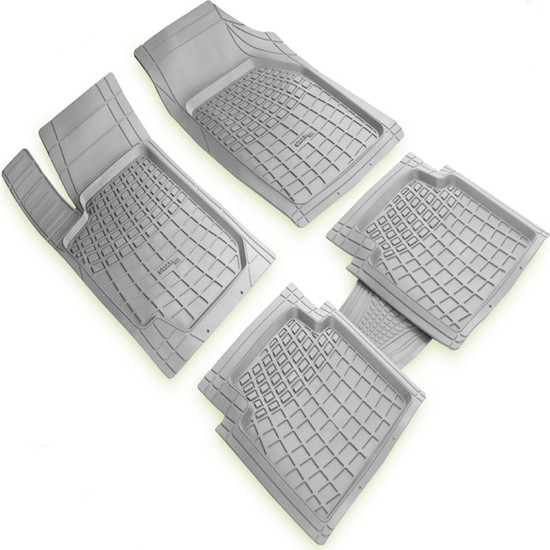 MERCEDES-BENZ Serie ML Gri 3D Havuzlu Paspas Seti 2005 2011 Arası Modeller İçin | Kaymaz Koku Yapmaz