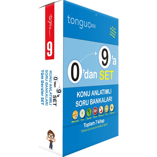 Tonguç Akademi 0'dan 9'a Tüm Dersler Konu Anlatımlı Soru Bankası Seti