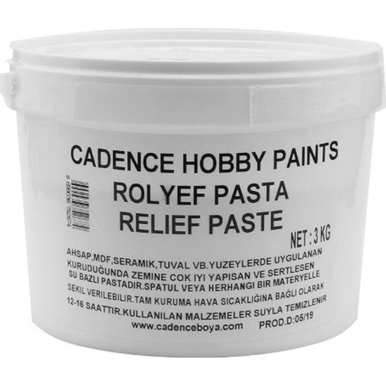 Cadence Klasik Rölyef Pasta 3 kg