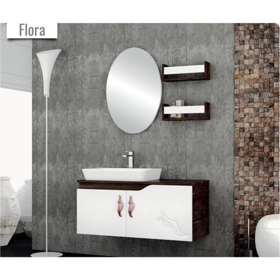 Samir Flora Banyo Dolabı 90 cm