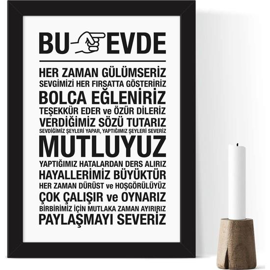 Bc Home Çerçeveli Poster Tablo - 24 x 33 cm