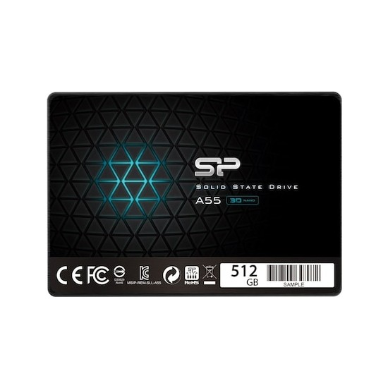 """Silicon Power Ace A55 512GB 560MB-530MB/s 2.5"""" Sata 3.0 SSD SP512GBSS3A55S25"""