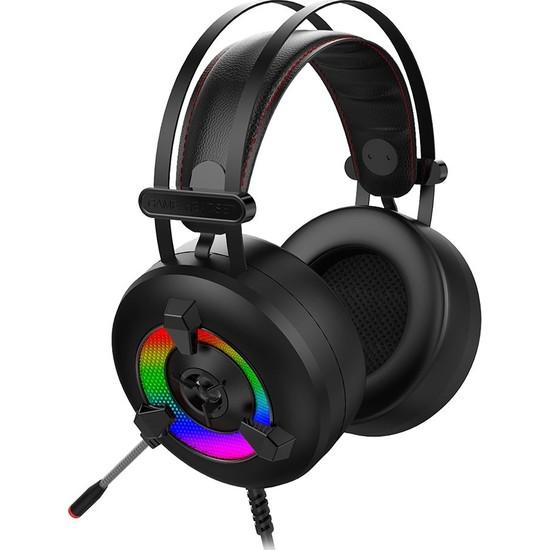 Rampage Miracle-X2 Plus Siyah RGB LED 7.1 Surround Sound System Mikrofonlu Oyuncu Kulaklığı