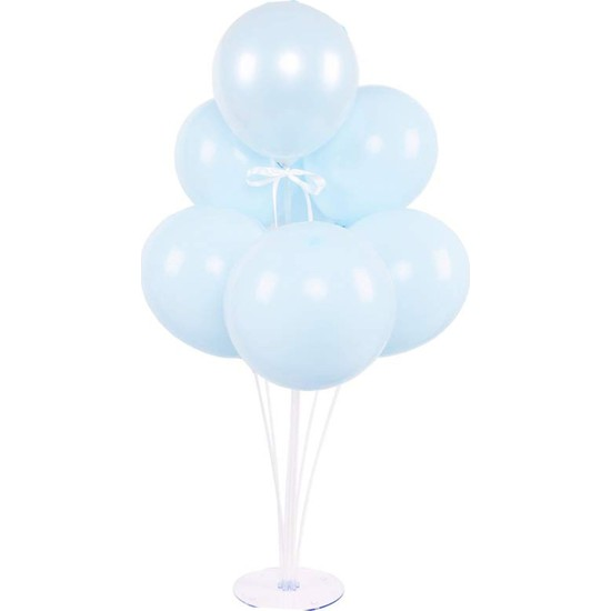 Kidspartim 7 'li Balon Stand Demeti Makaron Mavi Balon