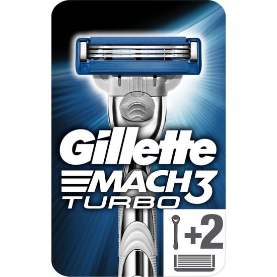 Gillette Mach3 Turbo Yedek Bıçaklı Tıraş Makinesi