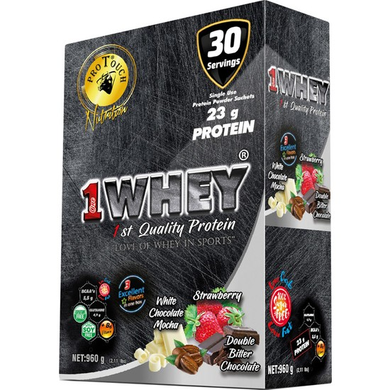 Protouch One Whey Protein Tozu 960 gr 30 Şase 3 Aroma