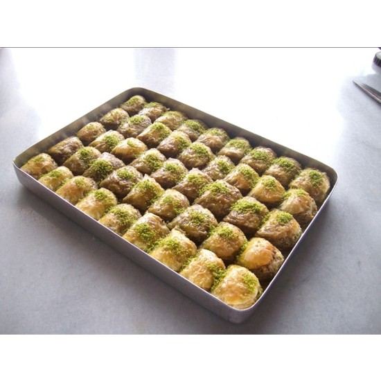 Hüseyinoğlu Baklava-Börek Antep Fıstıklı Dilber Dudağı Baklava Büyük Tepsi 3500 gr