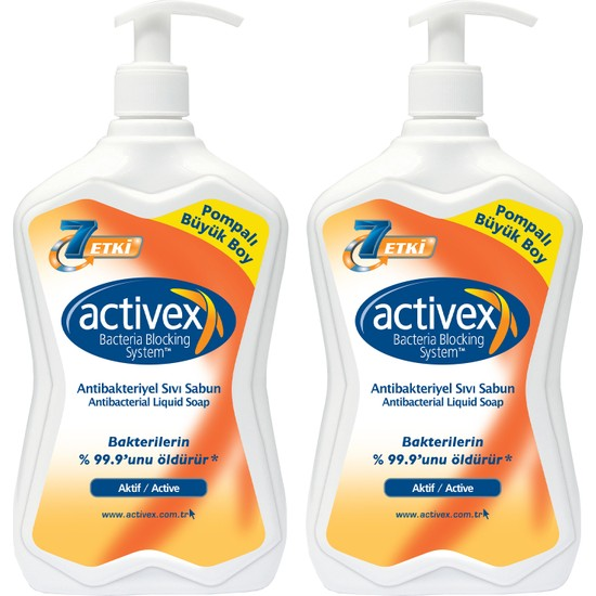 Activex Antibakteriyel Sıvı Sabun Aktif 2x700ml