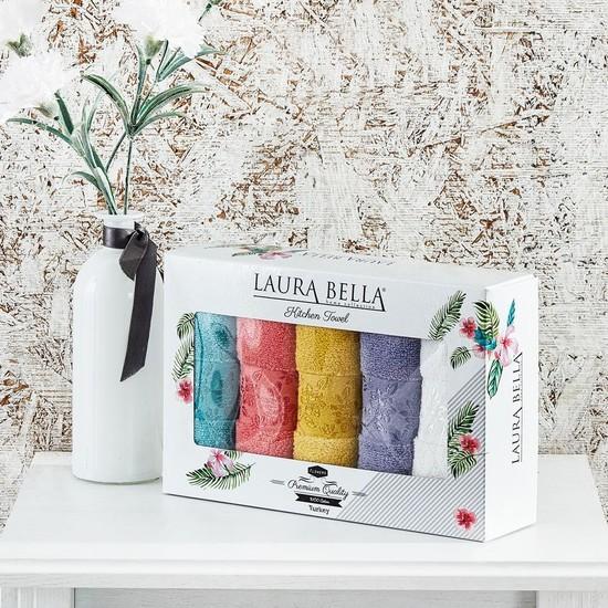 Laura Bella Flowers 5'li Havlu Seti 30X50 cm