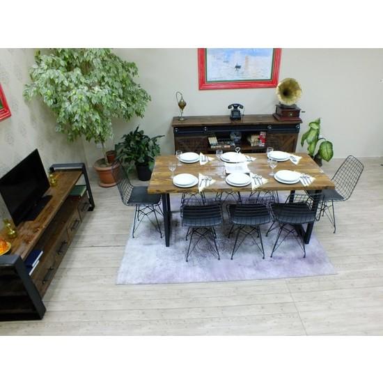 NtConcept Masif Ağaç Yemek Masası Düz Kenar - MYM00781