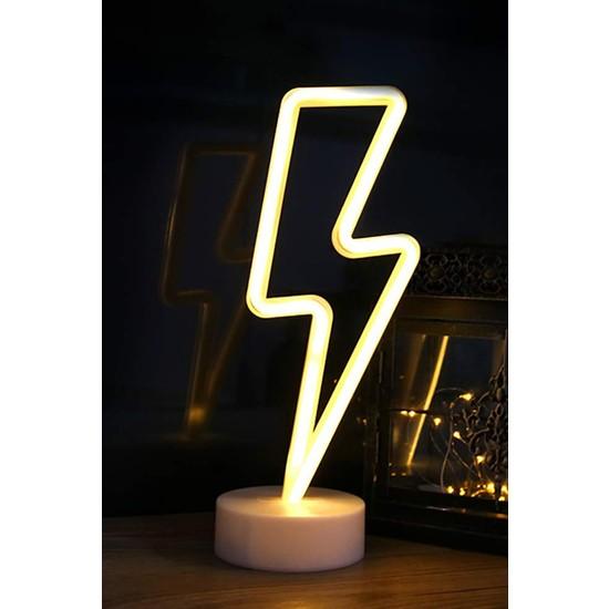 İndirim Hareketi Şimşek Şeklinde Neon Dekoratif LED Lamba
