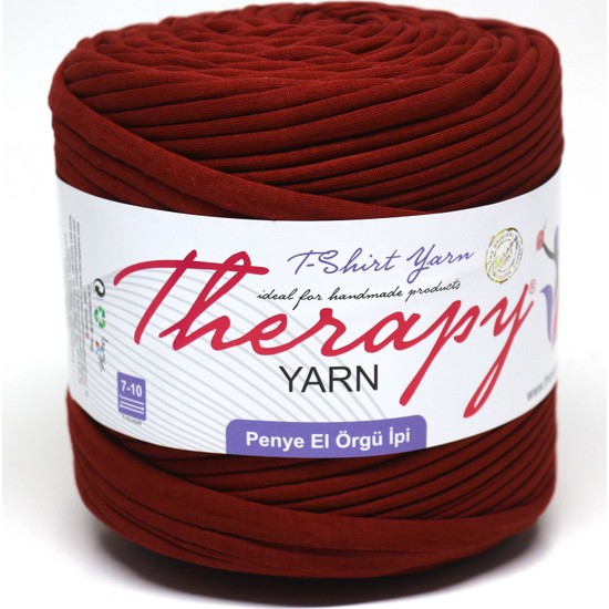 Therapy Yarn Penye Ip Açık Bordo